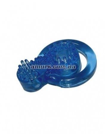 Кольцо «Stretch» голубого цвета