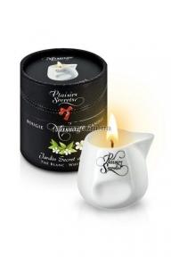 Массажная свеча Plaisirs Secrets White Tea, Белый чай, 80 мл