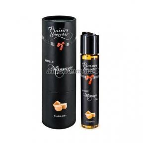 Массажное масло Plaisirs Secrets Caramel, карамель, 59 мл