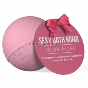 Супер-бомбочка для ванны Dona Bath Bomb - Rosey Posey, 128 гр, приятный аромат розы