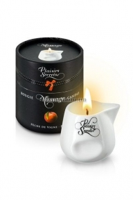 Массажная свеча Plaisirs Secrets Peach, персик, 80 мл