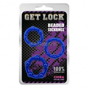 Набор эрекционных колец «Get Lock Beaded»