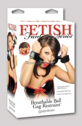 Набор БДСМ «Fetish Fantasy Series Breathable Ball Gag & Handcuffs»